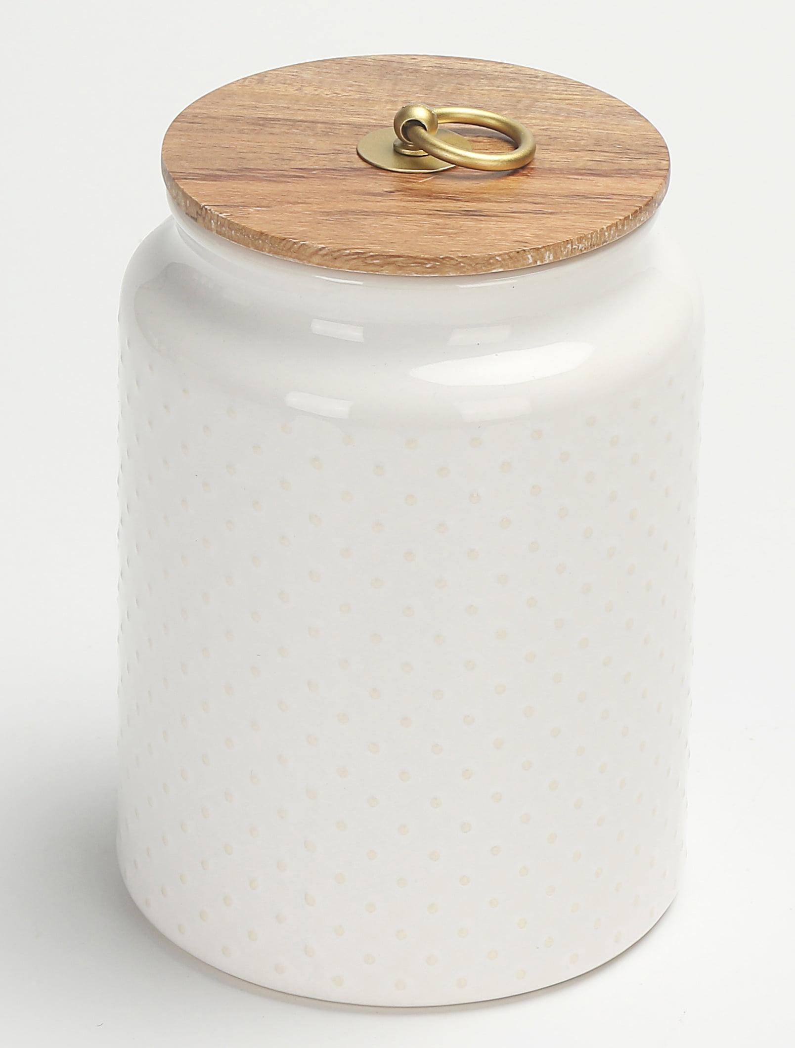 Better Homes & Gardens Ceramic Large Dot Hobnail Canister