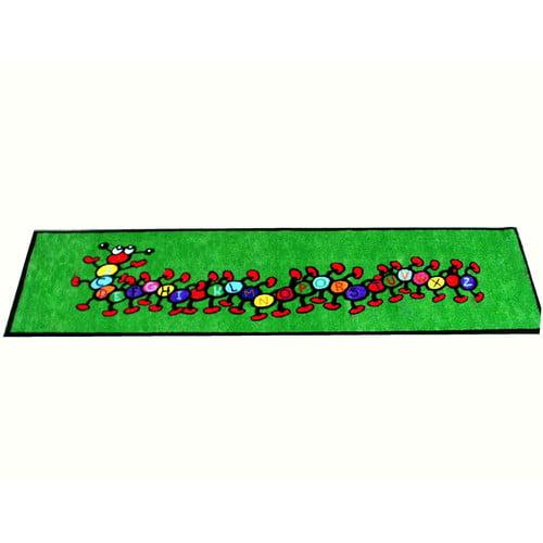 Kids World Carpets Caterpillar Green Area Rug
