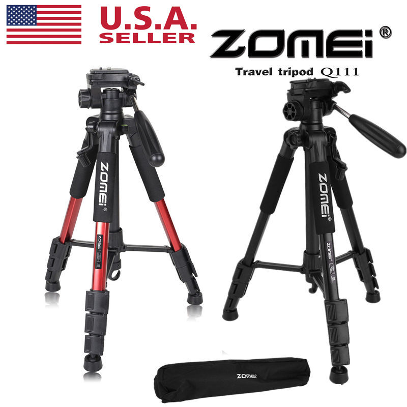 Zomei Q666 Portable Lightweight Compact Travel DSLR Camera Camcorder Tri p o d Ball Head Stand