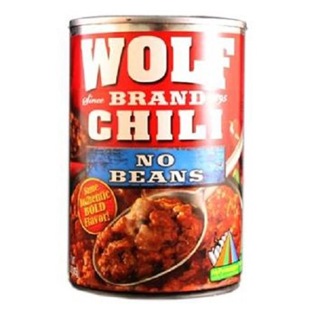 - Wolf No Beans Chili, 15 Ounce