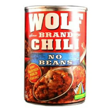 Product Of Wolf Brand, Chili No Beans Can, Count 1 - Beans / Grab Varieties & Flavors 49 Assorted Flavors Beans