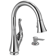 Talbott Single Handle Pull-Down Kitchen Faucet with Soap Dispenser in Chrome 16968-SD-DST