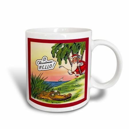 Mulligan Golf Pouch (3dRose Golfing Santa Will Need a Mulligan From This Alligator, Ceramic Mug,)