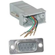 Offex OF-31D1-16200 Modular Adapter, Gray, DB9 Male to RJ12 Jack