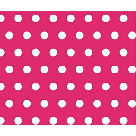 Sheetworld Fitted Pack N Play  Graco  Sheet   Polka Dots Hot Pink