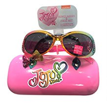 JoJo Siwa Bow Sunglasses &Hard shell Carrying Case Set - 100% UVA & (Chanel Sunglasses With Bows On The Side)