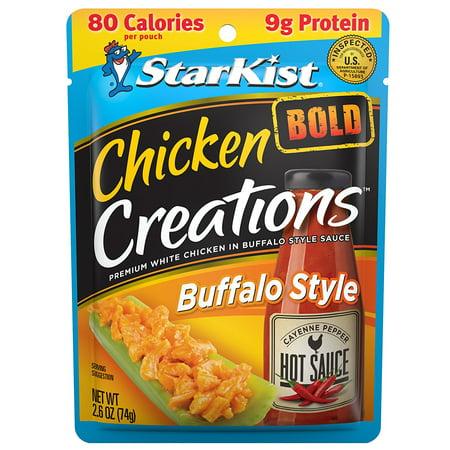 (3 Pack) StarKist Chicken Creations BOLD Buffalo Style Chicken, 2.6 oz. -