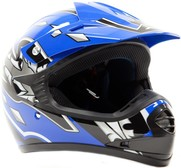 Typhoon Youth Blue Motocross Helmet Size Small