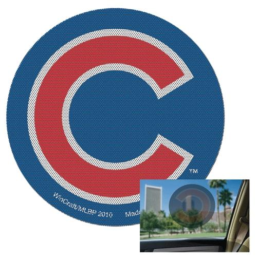 12x12 Perforated Decal Chicago Cubs