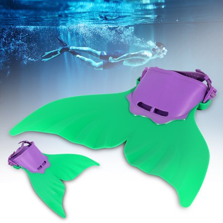 9a6bd51692 Mermaid Monofin Mono Fin Flippers Swimming Costume Dress Mermaid Tail  Swimsuit(Green) - Walmart.com
