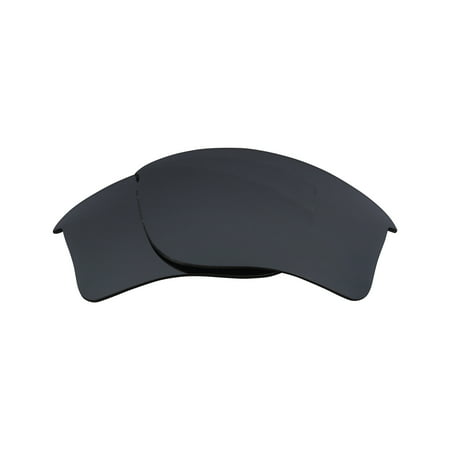 Replacement Lenses Compatible with OAKLEY FLAK JACKET Polarized Black (Flak Jacket Clear Lenses)