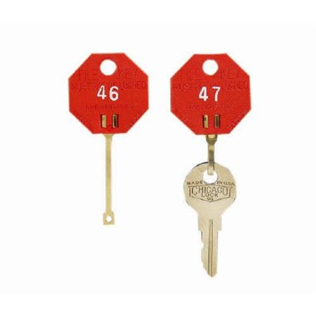 Mmf Uni Key Single Tag (MMF 5312726CB07 Self - Locking - Red Octagonal - Key Tags 221 - 240 - Packed 20 Per Pack )
