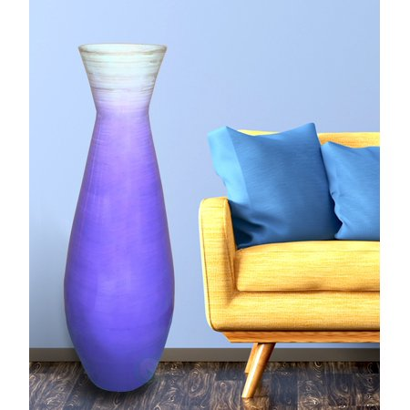 28 Tall Bamboo Floor Vase Glossy Purple Walmart