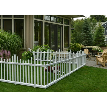 Zippity Outdoor Products 2.5 ft. H x 5 ft. W Madison No Dig Garden Fence Panel (Set of
