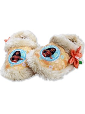Disney Moana Toddler Girl's Plush A-Line Slippers with Faux Fur NIMO2806A1