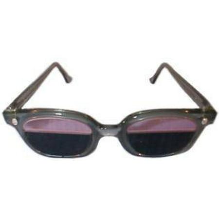 Quartzworking Split-Lens Glass Spectacles in Plastic Safety Frame ...