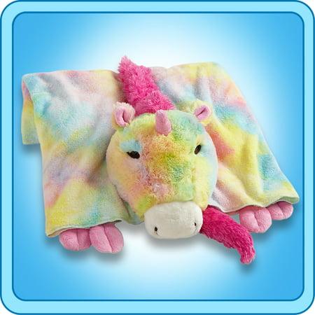 Authentic Pillow Pet Magical Unicorn Blanket Plush Toy Gift