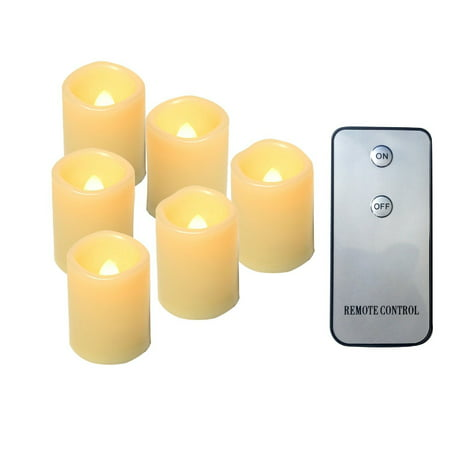 Candle Choice 6 PCS Realistic Flickering Flameless Candle, Battery Operated Votives, Votive/tealight Candles with Remote, Long Battery Life, Batteries Included, 1.5