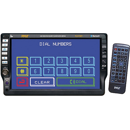 """Pyle PLD70BT 7"""" TFT Touchscreen DVD/CD/MP3/USB/AM/FM/RDS Receiver with Bluetooth"""
