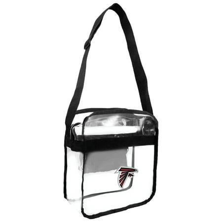 Little Earth   Nfl Clear Carryall Cross Body Bag  Atlanta Falcons