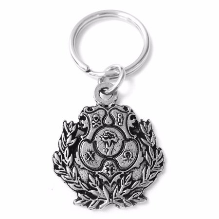 Chi Omega Metal Crest Keychain - Walmart com