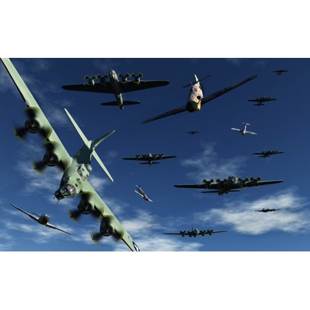 German Sonderkommandos Ram Allied Bombers During World War Ii Canvas Art   Mark Stevensonstocktrek Images  36 X 23