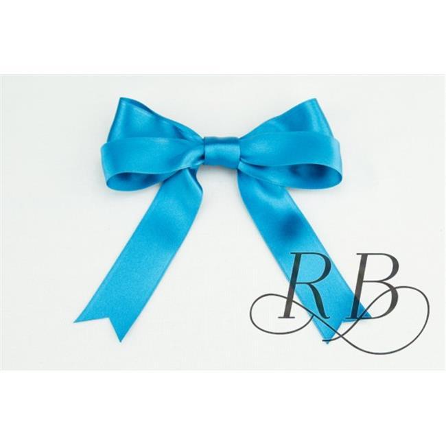 Ribbon Bazaar 6439 0.63 in. Luxious Satin Ribbon, Sea Blue - 25 Yards