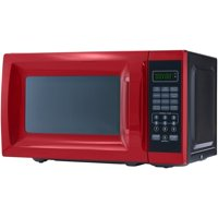 Mainstays 0.7 Cu. Ft. 700W Red Microwave with 10 Power Levels