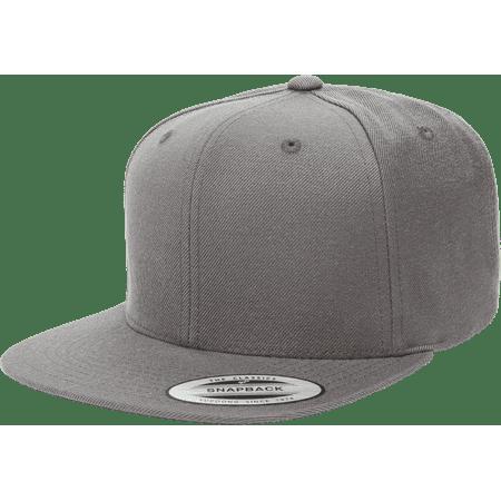 525071b002aaf Yupoong - The Hat Pros Snapbacks Flexfit Pro-Style Snapback Hats w  Green  Underbill 6089M (Dark Gray) - Walmart.com