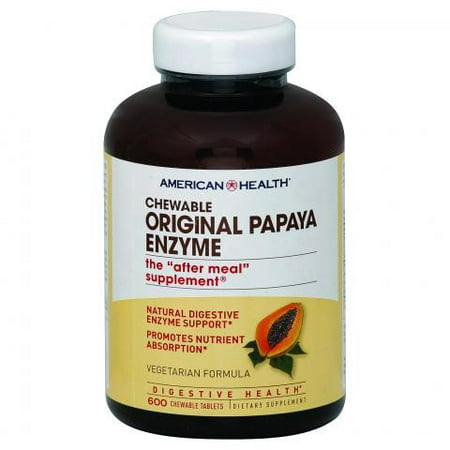 American Health Products - Original Papaya Enzyme Chewable Tablets, 600 Count