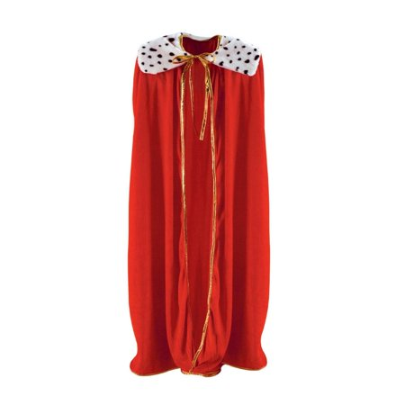 Royal Red Adult King/Queen Mardi Gras Robe or Halloween Costume Accessory - 80s Prom King And Queen Costume