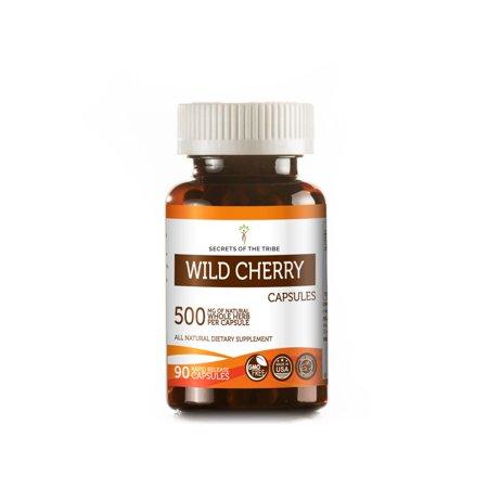 Wild Cherry 90 Capsules, 500 mg, Organic Wild Cherry (Prunus Serotina) Dried Bark