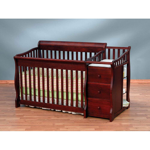 Bundle-34 Sorelle Tuscany 4-in-1 Convertible Crib and Changer Combo (3 Pieces)