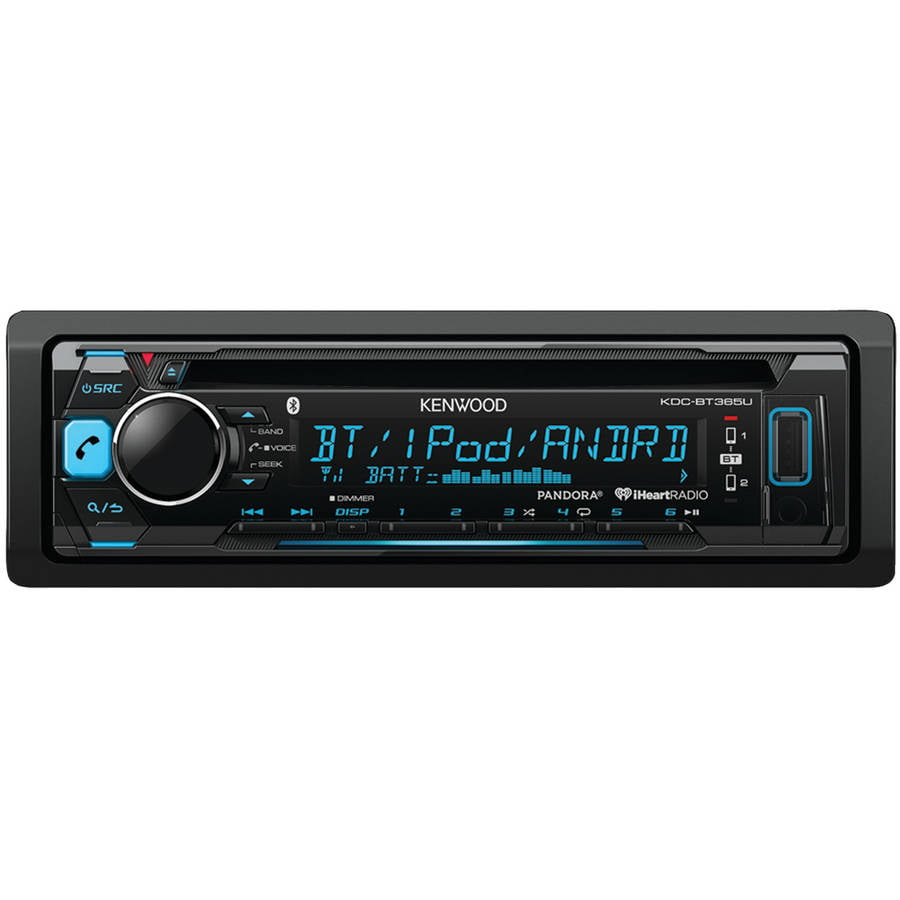 Kenwood KDC-BT365U Single-DIN In-Dash CD Receiver with Bluetooth and Pandora Internet Radio by Kenwood