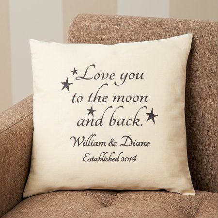 Personalized Love You To The Moon And Back Accent Pillow