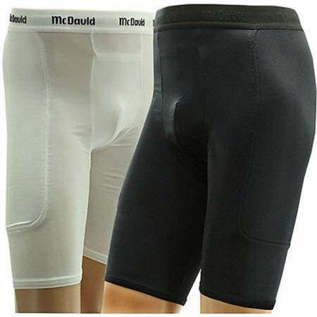 McDavid 721 Padded Sliding Shorts Black-Medium with Cup Pocket