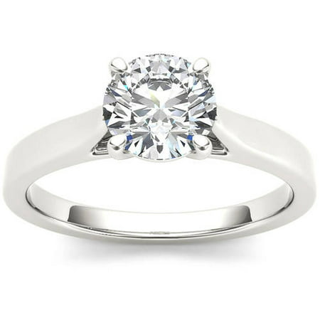 1 Carat T.W. Diamond Solitaire 14kt White Gold Engagement Ring
