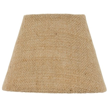 Natural Beige Burlap 16 Inch Tapered Drum Lampshade Replacement
