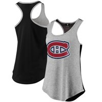 Montreal Canadiens Fanatics Branded Women's Overtime Flow Out Tank - Heathered Gray/Black