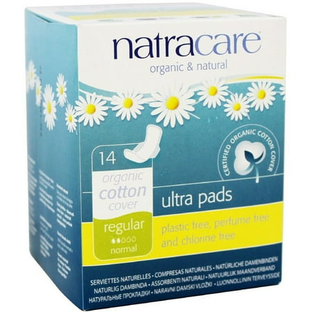 Natracare Natural Ultra Pads with Wings, Regular 14 (Day Pad Natural)