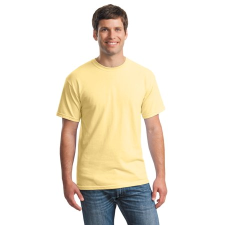Pima Crewneck Tee - Gildan Men's Short Sleeve Heavy Cotton Crewneck T-Shirt - 5000