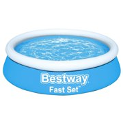 Bestway Fast Set Round Inflatable Swimming Pool for Kids and Adults 6 feet x 20 inch - 57392