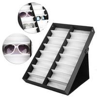 EOTVIA Eyeglasses Organizer,Glasses Storage Case,16 Grids Glasses Display Case Sunglasses Storage Box Glasses Jewelry Organizer