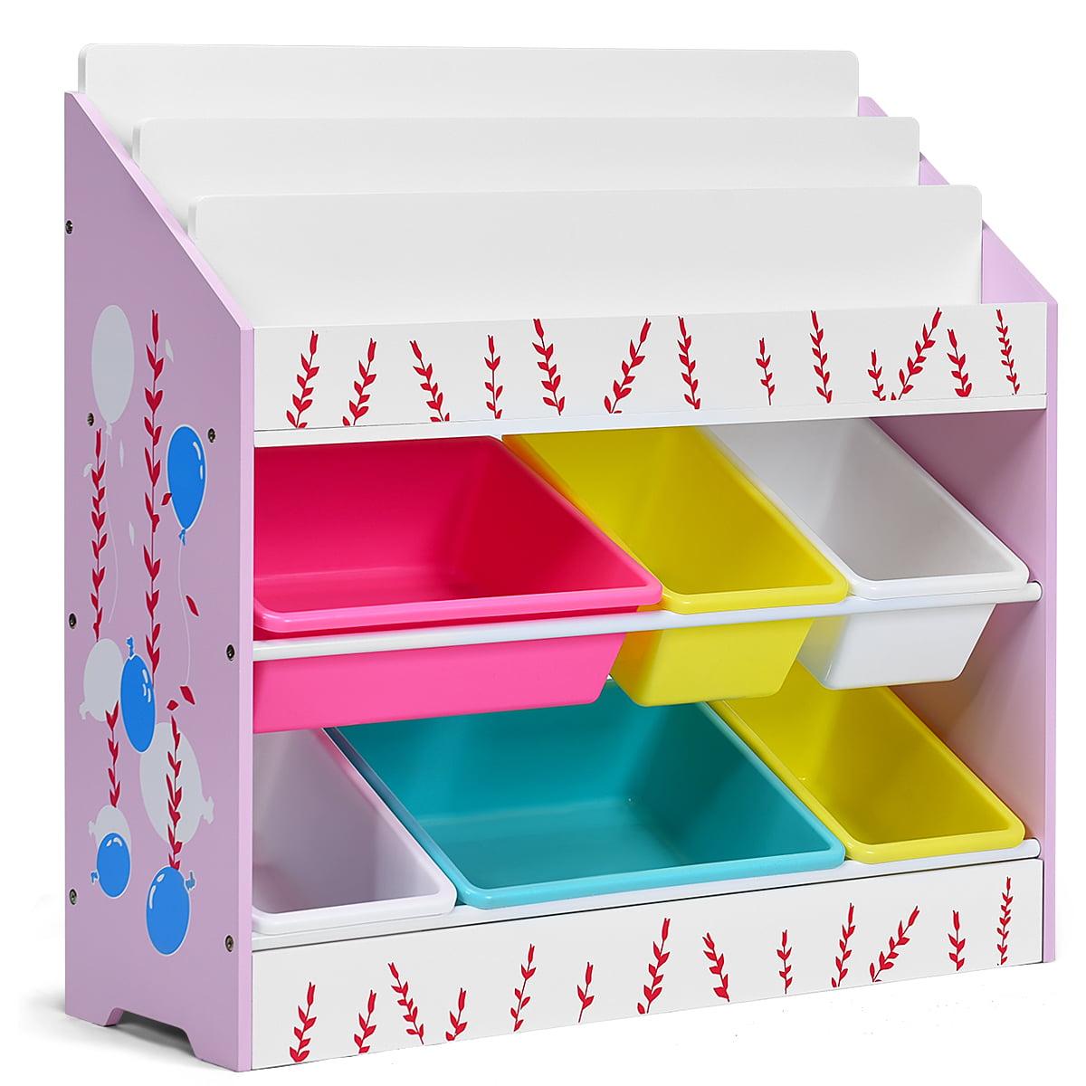 Costway Kids Toy Storage Organizer Children Storage Bins ...