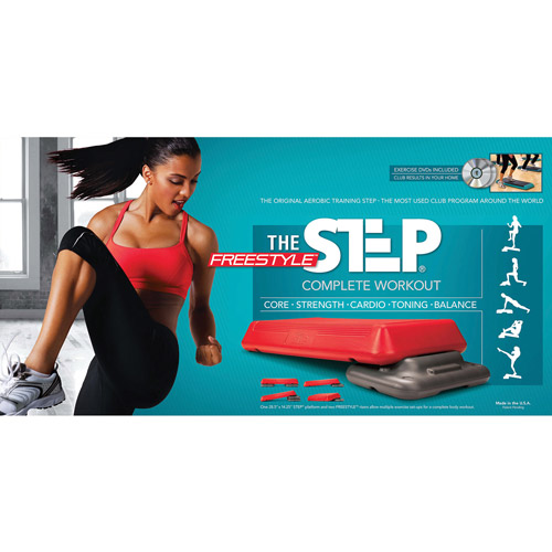 The Step The Freestyle Step, Red, Health Club Size with DVD