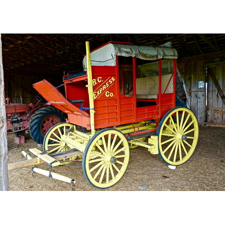 LAMINATED POSTER Carriage Coach Western Stagecoach Vintage Wagon Poster Print 24 x 36