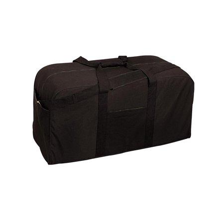 rothco jumbo cargo bag, black, o/s