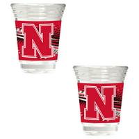 Nebraska Cornhuskers 2-Piece 2oz. Party Shot Glass Set - No Size