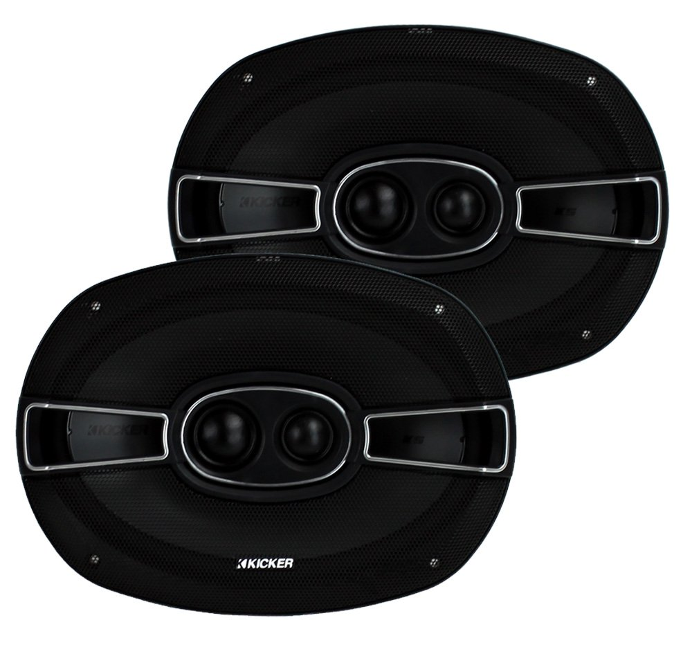 "2) New Kicker 41KSC6934 6x9"" 3-Way 300 Watt Car Audio Coaxial Speakers KSC693"