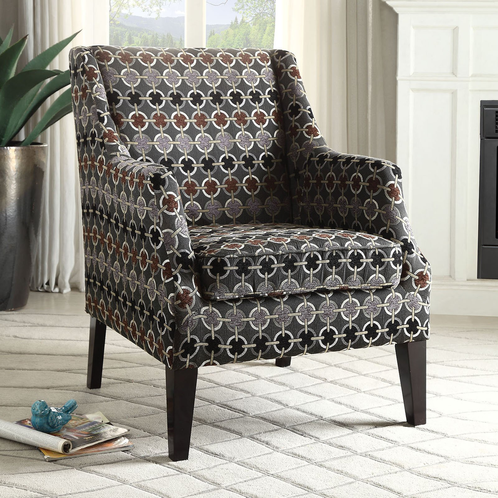 ACME Zarate Fabric Club Chair, Multiple Patterns by Acme Furniture